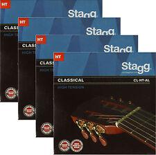4x Gitarrensaiten Konzert-/Klassik-Gitarre Nylon Saiten High Tension Seiten HT