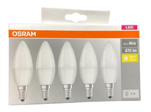 5er Pack OSRAM E14 LED Lampe Kerze Leuchtmittel 5W wie 40Watt Warmweiß 2700K