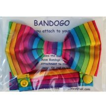 Rainbow Dog Bow Tie Colorful Attaches to Collar 5.25 x 3 Pet Accessory