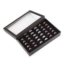 Show Earring Jewelry Case Cufflinks Display Storage Tray Ring Box Organizer