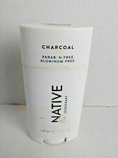 NATIVE Deodorant Natural Charcoal Aluminum & Paraben Free Cruelty Free