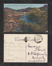 1926 CORNICHE de l'ESTEREL LE VIADUC d'ANTHEOR FRENCH RIVIERA PCARD POSTAGE DUE