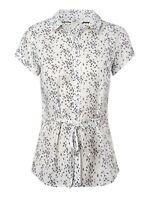 Ex White Stuff White Summer Printed Blouse Top Tunic Shirt Size 8 10 12 14 16