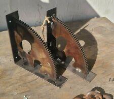 Industrial Automotive Shelf Brackets Steel Gear Flywheels (Pair)