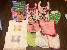 Baby Girl Bib lot 13 Pieces