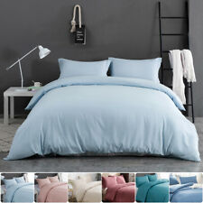 MOHAP Solid Duvet Cover Set Ultra Soft Cover for Comforter Microfiber Queen Size