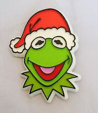 "Vintage 1979 The Muppets Kermit the Frog 2"" Christmas Holiday Lapel Brooch Pin"