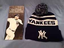 NY Yankees SGA Knit Ski Snow Winter Cap Hat 9/18 + Derek Jeter 2014 Tix Guide