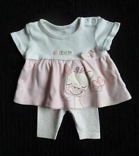 Baby clothes GIRL premature/tiny<7.5lbs/3.4kg pink girafe SS dress top/leggings