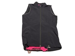 Specialized Womens Deflect Vest L Black Pink Full Zipper Cycling Reflective