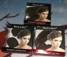MIA Hair **3 BEND-A-BUN** Bendable Styling Tool Brown NEW