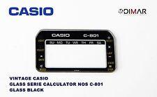 VINTAGE GLASS CASIO C-801 NOS GLASS BLACK