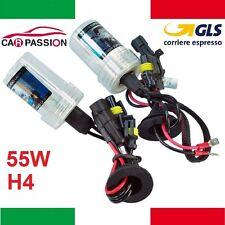 Coppia lampade bulbi kit XENO xenon H4 55w 6000k 12v lampadina luce HID ricambio