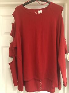 Ladies River Island Red Jumper , Size 16