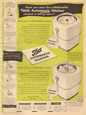 1946 vintage appliance AD THOR Automatic Clothes Washer and Dish Washers  012116