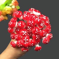 30X Mini Resin Mushroom Fairy Garden Toadstool Ornament Potted plants decor _UK