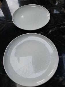 Jamie Oliver 2 White Royal Worcester Pukka plates