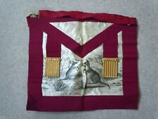 Masonic Regalia Vintage Old Collectable Silk Kangaroo Apron + Box