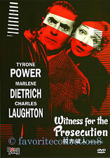 Witness for the Prosecution (1957) - Tyrone Power, Marlene Dietrich - DVD NEW