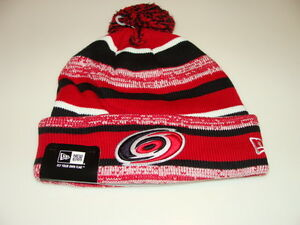 Carolina Hurricanes Cap Hat NHL Hockey New Era Beanie Toque OSFM NE 14 Sport Pom