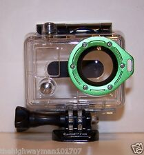 Genuine GoPro HERO 1 2  Waterproof Dive Case Housing Original Green lanyard lens