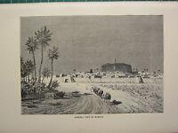 C1890 Antico Stampa ~ Generale Vista Di Murzuk