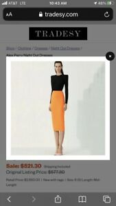 NWT Alex Perry 'Darley' Crepe Two Tone Midi Dress Size 4