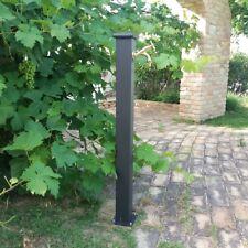 Fontana a colonna in acciaio e ghisa per esterno casa giardino + rubinetto 303L