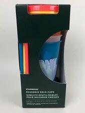 Starbucks 2020 Summer 5 Reusable Cold 24 Oz Cups Tumbler & Straws