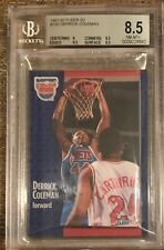 BGS 8.5 w/9.5 DERRICK COLEMAN 1991-92 Fleer 3D Acrylic Wrapper Redemption NM-MT+