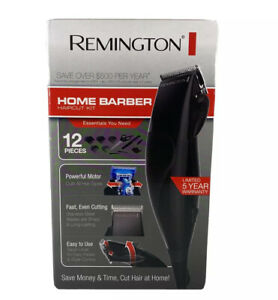 Remington 12pc Home Barber Haircut Cutting Clippers Hair Cut Styling Kit Trimmer