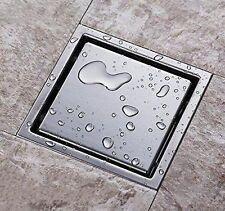 304 Stainless Steel 150 X 150mm Tile Insert Square Bathroom Shower Floor Drain