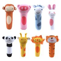 Newborn Baby Kids Plush Animal Rattles Toys Educational Squeaky Sound Toy Gifts