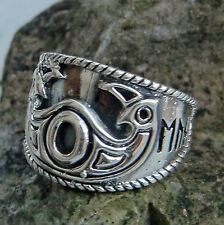 925er Silberring Odins Eye Gr52-60 od Gr 16-19 Mittelalter Hugin u. Munin Runen
