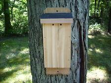 """Cedar Bat House.Handmade Solid 7/8"""" Rough Sawn Red Cedar L@K Fast Shipping!"""