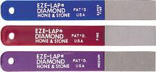 EZE-LAP DIAMOND SHARPENING SET- 3 pack/Super Fine, Fine & Med Grit (LP3)