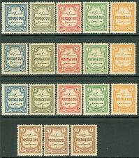 JORDAN : 1929. Stanley Gibbons #D189-94. 3 sets. Very Fine, Mint OG LH Cat £150.