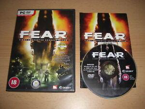 FEAR 1 Pc DVD Rom Original F.E.A.R. First Encounter Assault Recon - FAST POST