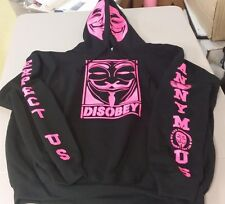 Anonymous Anonymiss Mask w crest hoodie hoody hooded sweatshirt ANON 4Chan