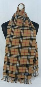 BURBERRY SCARF 100% LAMBSWOOL FOR MEN AND WOMEN MADE IN ENGLAND BEIGE SA