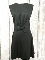 Ted Baker Sleeveless Black Jersey Skater Dress with Bow Detail Size 2 UK 10