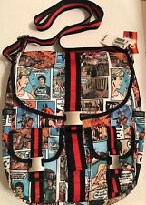 Rare LeSportsac Messenger Bag--Comic Book Print-- THE OC edition-- NEW WITH TAGS