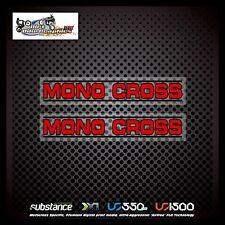 Yamaha 89 Mono Cross Swingarm Red On Clear Decal Sticker Evo MX (169)