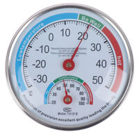 Round Household Analog Thermometer Hygrometer Humidity Monitor Meter Gaug SL