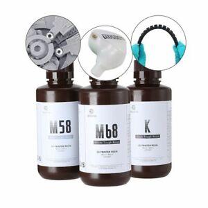 3D Printer Resin 500g Tough ABS-Like  SLA DLP LCD 405nm UV Flexible Gray White