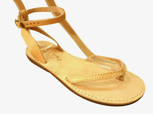 Ancient Greek Roman Leather Handmade Sandals Shoes Womens Gladiator Spartan Size