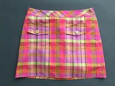 Liz Claiborne Golf  Women's Pink Purple Yellow Multi Color Skort Skirt Size 6