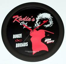 "SIN CITY Frank Miller 2005 Movie KADIE'S BAR NIGHTCLUB SALOON 11"" WALL CLOCK New"