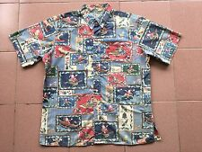 Vtg L.Issue 2003 Mele Kalikimaka From Reyn Spooner Hawaiian Shirt Christmas Xl