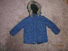 Primark Blue Coat Jacket,Fleece Lined,showerproof 18 -24 mths Winter Coat.